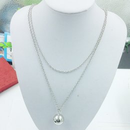 Pregnancy Chime Pendant Australia - Pendant Necklaces Simple Pregnancy Mom and Son Mex Bola Harmony Necklace Jingle Ball Chiming Sound Ball Pendant Necklace