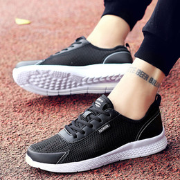 $enCountryForm.capitalKeyWord NZ - Summer Men Casual Shoes Fashion Breathable Lace Up Black Trainers Sneakers Big Plus Size 38-48 Male Footwear Mens Mesh Shoe
