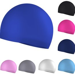 $enCountryForm.capitalKeyWord Australia - Feitong Trendy Solid Color Cap Beanie Summer Outdoor Hat Silicone Elastic Flexible Durable Ladies Mens Seamless Swim Cap Muts #C