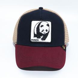 $enCountryForm.capitalKeyWord NZ - Summer Mesh Caps Youth Mens Womens Visors Fashion Baseball Hats Embroidery Panda Animals Casual Cap Embroidered Cartoon Anime Ball Hat