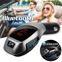$enCountryForm.capitalKeyWord Australia - X5 Bluetooth Car Kit FM Transmitter HandsFree Wireless Radio Adapter Bluetooth Mini Mp3 Player USB Car Charger TF Card For iPhone Andriod