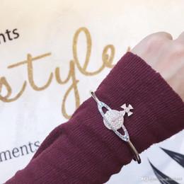 $enCountryForm.capitalKeyWord NZ - New fashion luxury designer jewelry women bracelets mens lady diamond CM saturn charm bracelet braccialetto di lusso brand bangle