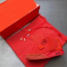 $enCountryForm.capitalKeyWord Australia - Kanye West Air 2 SP SOLAR Red October Fashion Glow In The Dark Men Basketball Shoes Sports Outdoor Sneakers With box