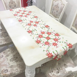 embroidery flower tablecloth NZ - Christmas Table Runner High Grade Tablecloth Embroidery Hollow Cloths Sell Well Classical Decorate Original Foreign Plant flowers 36kyb1