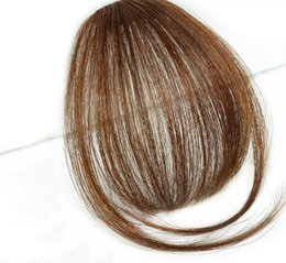 Thinning hair bangs online shopping - Synthetic Clip in Thin with Bangs Natural Straight High Temperature Fiber Black Light Brown Dark Brown Women