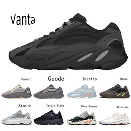 womens flat shoes glitter UK - 2020 Vanta 700 V2 Geode Cement Inertia Static Wave Runner Running Shoes For Mens Womens 700s Mauve sports sneakers 36-46