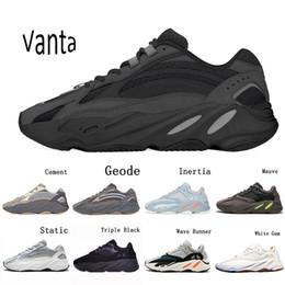 Vente en gros Yeezy Boost 700V2 Vanta Geode Cement Inertia Static Kanye West Wave Runner Running Shoes For Mens Womens 700s Mauve sports sneakers 36-46