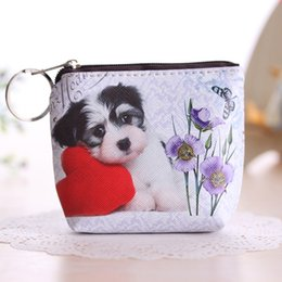 $enCountryForm.capitalKeyWord Australia - designer coin purse key pouch Women Girl Cute Dog Cat Faux Leather Clutch Short Coin Purse Zipper Wallet Gift