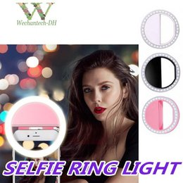 universal phone flash box 2020 - Universal Selfie Light Ring LED Rechargeable Flash Clip Camera for iP 7 8 X HTC Samsung Phones with Retail Box