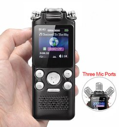$enCountryForm.capitalKeyWord NZ - Professional LCD Screen Voice Activated Digital Audio Editing Monitor Recorder Sound Recording Portable MP3 Pen Noise Reduction