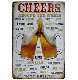 antique beer signs 2020 - Vintage Metal Tin Sign 20*30cm Beer Wall Plaque Poster Music Tin Metal Sign Bar Cave Beer Signs Route 66 Wall Decor Home