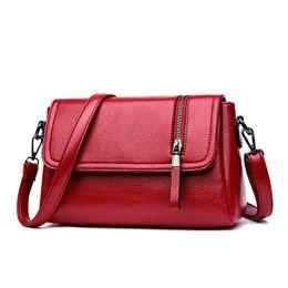 583dc162d961 good quality Women Messenger Bags 2019 Soft Leather Casual Small Shoulder  Messenger Bag Ladies Zipper Crossbody Bag For Women Cheap A559