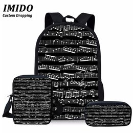 Music pianos online shopping - IMIDO New Music Note Girls Primary School Bag Teenager Book Bags Children Shoulder Bagpack Piano Printing School Bags for Kids