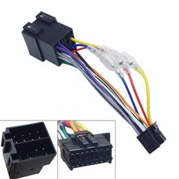 Stereo Adapter Harness Australia - wholesale Car Stereo Radio ISO 16-Pin PI100 Wire Harness Adapter For Pioneer 2003-on For Volkswagen Wire Connector Into Car Cable #2365