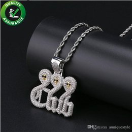 Bling Gifts Australia - Iced Out Chains Skeleton Pendant Designer Necklace Hip Hop Jewelry Mens Hophop Luxury Diamond Bling Shiny Rock Punk Rapper Necklaces Fashion