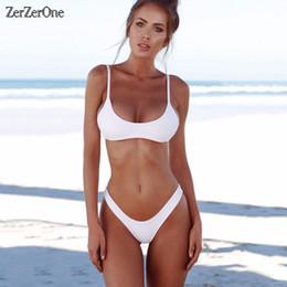 f7bc7a6ade9 2019 new fashion Sexy Micro Bikini Plus Size Swimwear Women Swimsuit Female  Beach Wear Push up Thong Brazilian Bikini Set White Bathing Sui