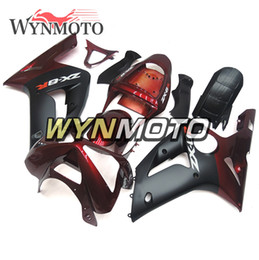 Red Black Kawasaki Zx6r NZ - ABS Plastic Motorcycle Full Fairings For Kawasaki ZX6R ZX-6R Ninja 2003 2004 Injection Bodywork Dark Red Black Body Kits ZX-6R 03 04 Carenes