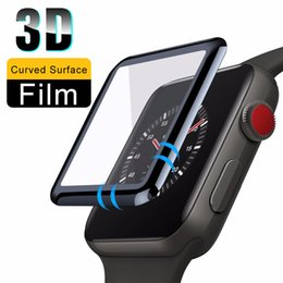 $enCountryForm.capitalKeyWord Australia - 3D Full Cover Tempered Glass for Apple Watch Series 1 2 3 4 Protective Film Screen Protector for iWatch 38 42mm Soft Film