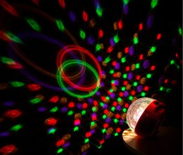 Wholesale New MIni Wireless Bluetooth Speaker Ball Stage Lights Disco Lamp Magic LED Light Support TF Card FM Radio for all phone