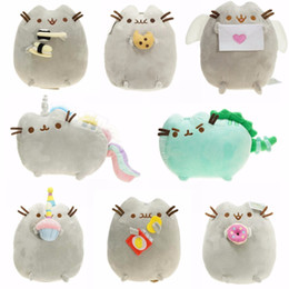 Discount kawaii cat plush - Kawaii Cat Sushi Angel Cookie Potato chips Doughnut Stuffed & Plush Animals Cute Pussy Christmas Gift Toys for Girls