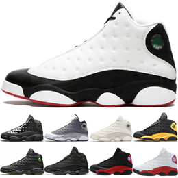 free game soccer NZ - Cap And Gown 13s Basketball Shoes 13 Men Atmosphere Grey He Got Game Black Cat Bred Cheap Designer Trainer Sport Sneakers Free Shipping