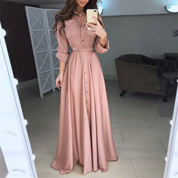 Products Red Australia - New Product Explosions Hot Dress Long Skirt Solid Blue Red Black Color Tie Waist Temperament Slim Slimming Long Skirt Women Dress
