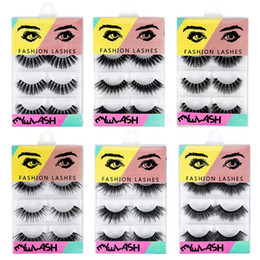 f4038c0e874 4 Pairs 3D Mink Hair False Eyelashes Thick Crisscross Eye Lashes Wispy  Natural Volume Extension Tools Makeup