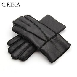 $enCountryForm.capitalKeyWord Australia - 2018 Winter New Gloves Men Gloves Real Sheepskin cashmere Fur Warm Ladies Full Finger Genuine Leather mitten