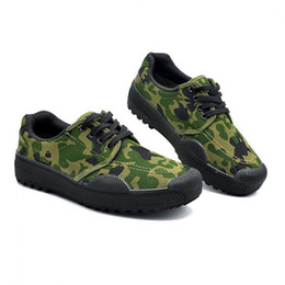 canvas for shoes NZ - All Season Army Boots For Man Canvas Shoes Men Camouflage Work&Safety Shoes Military Tactical Desert Boots Men Jungle Shoes