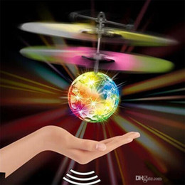 Big Toys Helicopter Australia - RC Flight Toy RC Flying Ball Mini Heli Drone Light Up Aircraft Helicopter Electronic Ball Shinning LED Lighting Toy for Children K0108