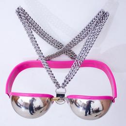 $enCountryForm.capitalKeyWord Australia - Female Sexy Stainless Steel Bra Chastity Belt Device Bdsm Bondage Restraint Breast Flirt Tool Adult Game Sex Toys For Couples Y19052902