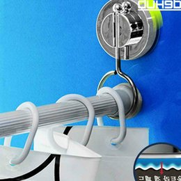 standing pole Australia - Suction bathroom rack shower curtain rod hanging ring rods stand strong Cornices hanging ring Curtain Poles Tracks & Accessories T200601
