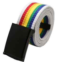 Leather Belt Metal UK - Muticolor Elastic Stretch Waist Belt Canvas Stretch Braided Elastic Woven Leather Belt Hot Metal Men   women #W