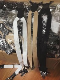 $enCountryForm.capitalKeyWord Australia - black white Elastic Leather Suspenders 5 Clips Braces Vintage Mens Women Suspender For Trousers Wedding Suspenders For Skirt