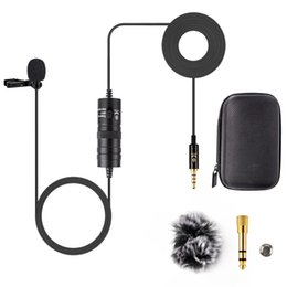 Microphone For Dslr Camera Australia - YC-VM10 6M Audio Video Record Lapel Microphone for Android phone Mac Vlog Mic Lavalier Microphone iPhone DSLR Camera Camcorder