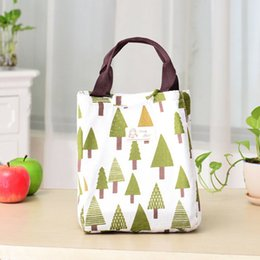 canvas floral lunch bag Australia - Waterproof Thermal Insulated Lunch Box Floral Bag Tote Bento Pouch Lunch Container Portable Picnic Storage Bag