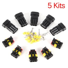 $enCountryForm.capitalKeyWord Australia - harging Starting Systems Battery Cables Connectors 5set Car Part 3 Pin Way Sealed Waterproof Electrical Wire Auto Connector Plug Set Car ...