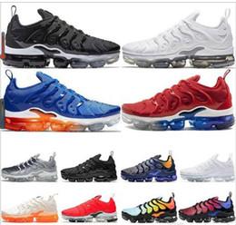 air plus shoes 2019 - 2018 New tn plus shoes Grape Volt Hyper Violet Blue Men women Sport Shoes Triple white Black cushion trainer airs tn cus