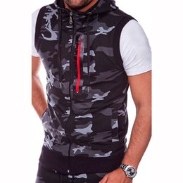 $enCountryForm.capitalKeyWord Australia - Fashion Camouflage Plus Size Tank Top For Men Sleeveless Hoodie Vest Casual Mens Zipper Slim Bodybuilding Fitness Hooded Tops #795963