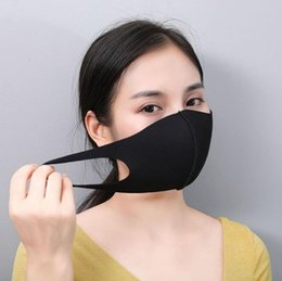 Discount face mask for protection Mouth Face Mask Black Cotton Blend Dust and nose protection K-POP Mask Fashion Reusable Masks for Men Woman