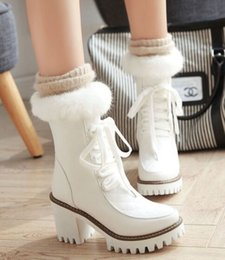 $enCountryForm.capitalKeyWord Australia - New Arrival Hot Sale Specials Super Fashion Influx Martin Cowgirl Beauty Rabbit Hair Princess Leather Fresh Sweet Lace Up Ankle BootsEU33-43