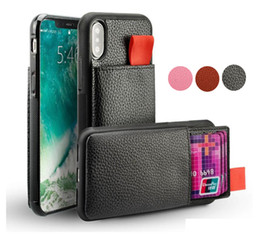 Pour iPhone X XS 7 8 6 Plus Wallet Leather Case antichocs RFID Pochette Pull Up ID Credit Card Holder Téléphone Couverture Cyberstore