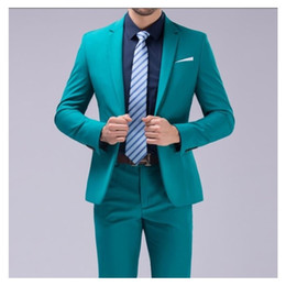Designer Grooms Tuxedo Australia - New Groom Tuxedos Notched Lapel One Button Slim Fit Mens Prom Tuxedos Suits Formal Business Suits mens designer blazers (Jacket+Pants+Tie)