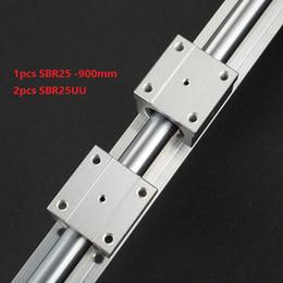 Linear Rail Cnc Australia - 1pcs SBR25-900mm support rail linear guide + 2pcs SBR25UU linear bearing blocks for cnc router