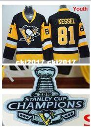 Ice Tops Australia - Youth Kid's #81 Phil Kessel Jersey Black Gold Alternate Third Hockey Ice Jerseys,100% Stitched,Top Quality,S M L XL