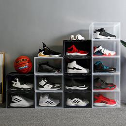 Antipoussière Tide Shoe Cabinet Transparent Boîte à chaussures Chaussures de sport Boîte de rangement Chaussures de basket-Box Cabinet Chaussures Collection Vitrine Chaussures en Solde