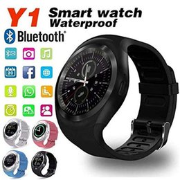 Bluetooth Smart Watch Sim Australia - Bluetooth Y1 Smart Watch Relogio Android SmartWatch Phone Call GSM Sim Remote Camera Information Display Sports Pedometer