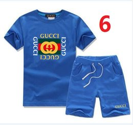 Summer Football Camps Australia - 2019 Guc summer children's suit comfortable fashion with cotton fabric short sleeve sports suit