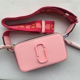 $enCountryForm.capitalKeyWord NZ - 2019 New Camera Bag Wide Shoulder Strap Color Dot Small Square Bag Leather Ladies Handbag Double Zipper Shoulder Bag Girls Walle