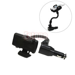 port mount Australia - Car Cigarette Lighter Mount Stand Holder + 2 USB Port Charger For Cell Phone